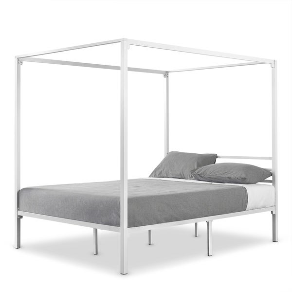 Shop Priage by Zinus Metal Framed Canopy Four Poster Platform Bed Frame - On Sale - Free Shipping Today - Overstock - 23506663  sc 1 st  Overstock.com & Shop Priage by Zinus Metal Framed Canopy Four Poster Platform Bed ...