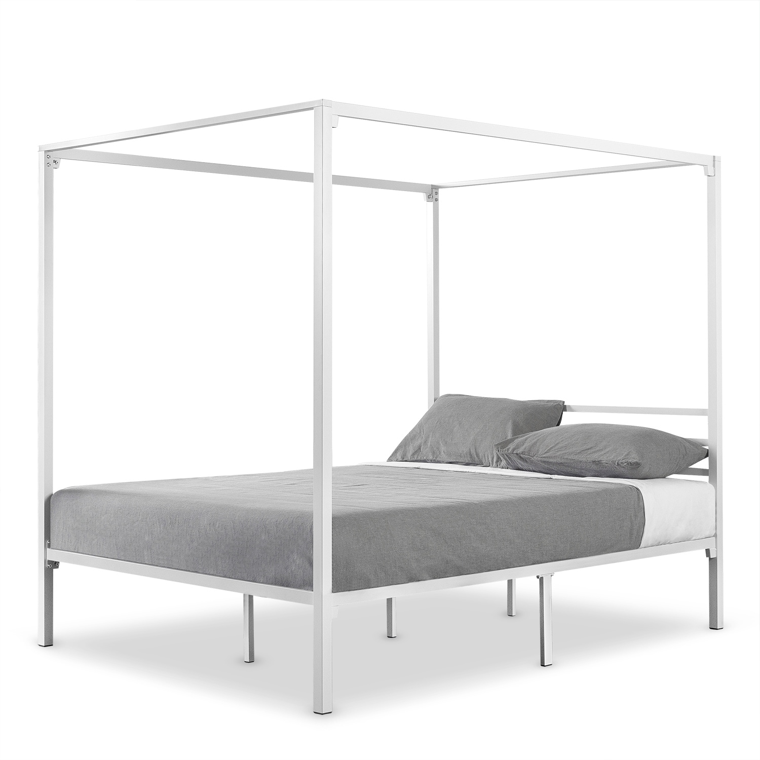 detailed pictures 66481 9c8bc Priage by Zinus Metal Framed Canopy Four Poster Platform Bed Frame