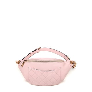 MKF Collection Denise Quilted Chain Link Waist Bag by Mia K Farrow