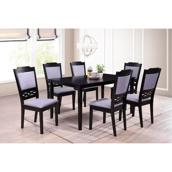 Shop Indoor Black And Grey European 7pc Dining Set With A