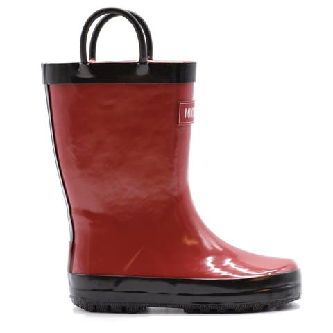 Mucky Wear Kids' Waterproof Solid Color Loop Boot