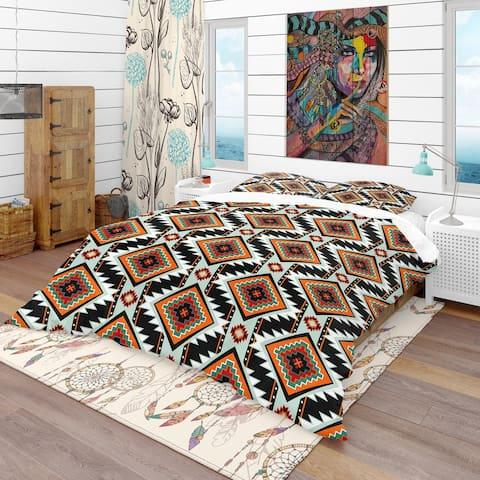 Designart 'First Nations Pattern' Southwestern Bedding Set - Duvet Cover & Shams