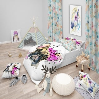 Designart 'Fashionable French Bulldog' Modern & Contemporary Bedding Set - Duvet Cover & Shams