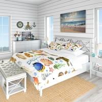 Designart 'Decoration Marine Theme' Nautical & Coastal Bedding Set - Duvet Cover & Shams