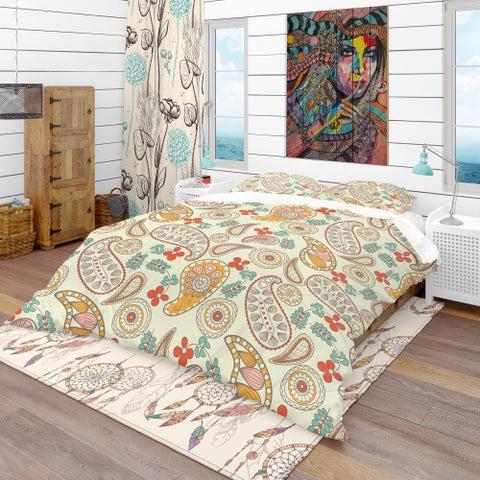 Designart - Paisley Pattern - Vintage Duvet Cover Set