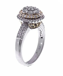 Eloquence 14k Gold 1ct TDW Round Diamond Engagement Ring (G, I2) - Thumbnail 1