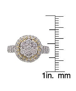 Eloquence 14k Gold 1ct TDW Round Diamond Engagement Ring (G, I2) - Thumbnail 2