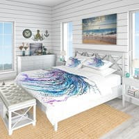 Designart 'Jelly Fish Watercolor' Tropical Bedding Set - Duvet Cover & Shams