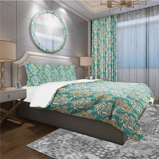 Designart - Arabesque Pattern - Oriental Duvet Cover Set