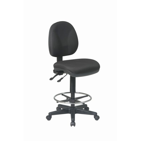 Ergonomic Drafting Chair with Dual Wheel Carpet Casters