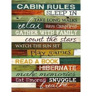 Rustic Lake & Lodge Wall Sign - Cabin Rules