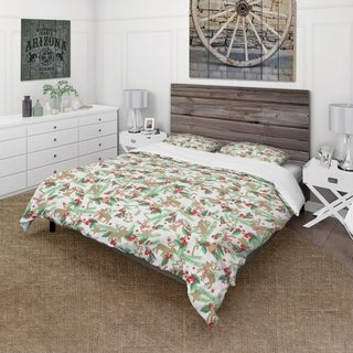 Designart - Christmas Decoration in Illustration - Cabin & Lodge Duvet Cover Set