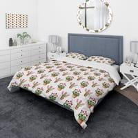 Designart 'Home Flower' Modern & Contemporary Bedding Set - Duvet Cover & Shams