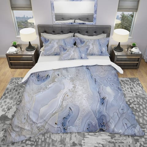 Designart 'Agate Stone Background' Modern & Contemporary Bedding Set - Duvet Cover & Shams