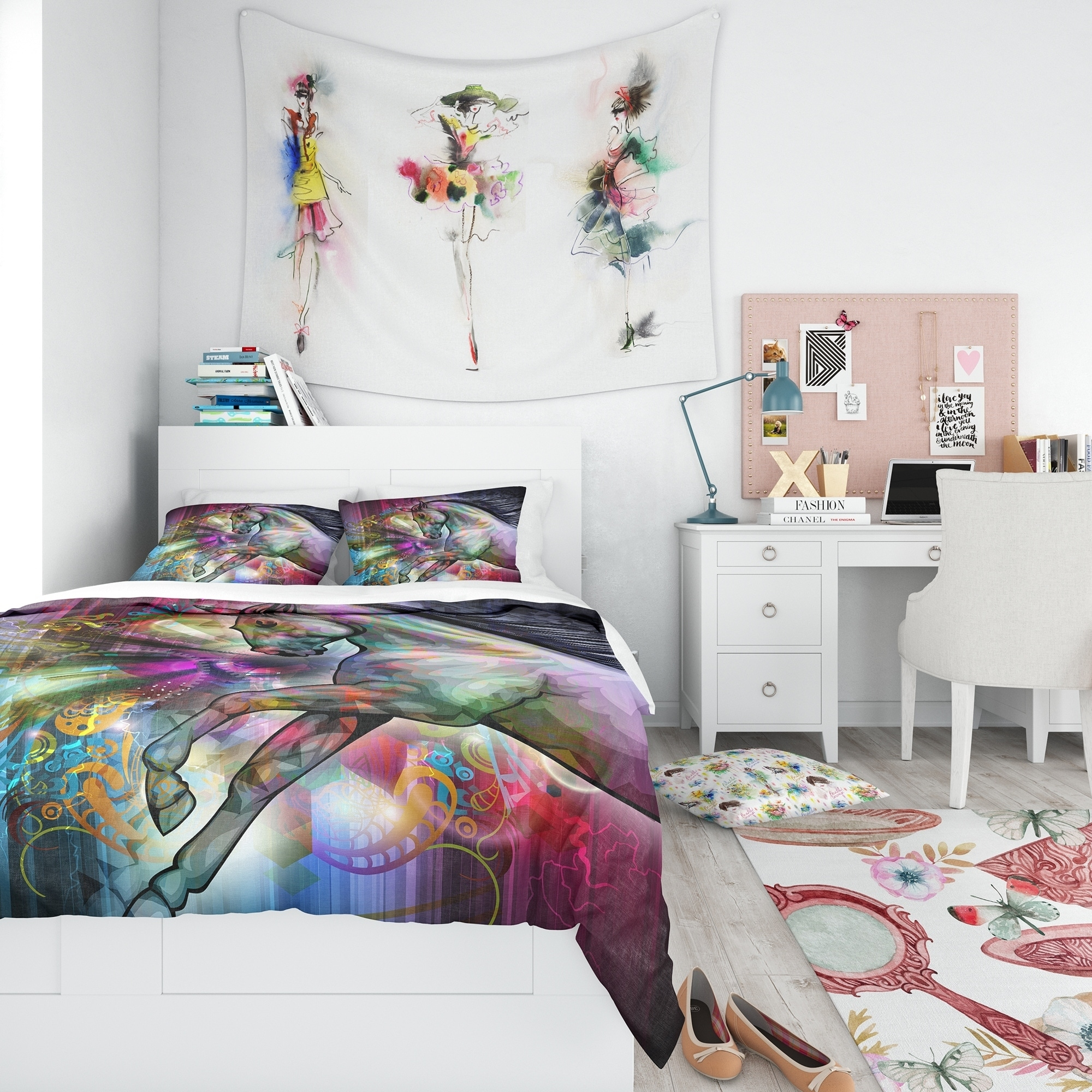 Home Furniture Diy Bedding Sets Duvet Covers Black Horse King Size Duvet Cover 2 X Pillowcase Set Animal Bedding Free P P Bortexgroup Com