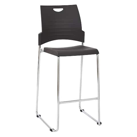 Tall Black Stacking and Ganging Chair 2-Pack
