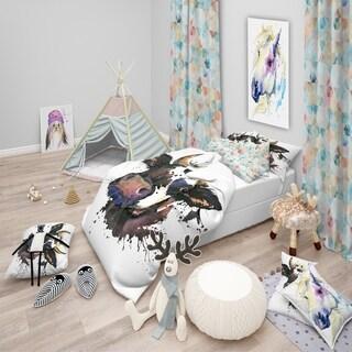 Designart - Beautiful Cat Watercolor Graphic - Modern & Contemporary Duvet Cover Set