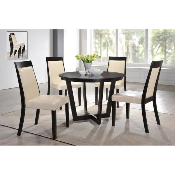Dining Table Sets Black And White Dining Table 4 Chairs: Shop Indoor Black And White Modern 5pc Dining Set With A