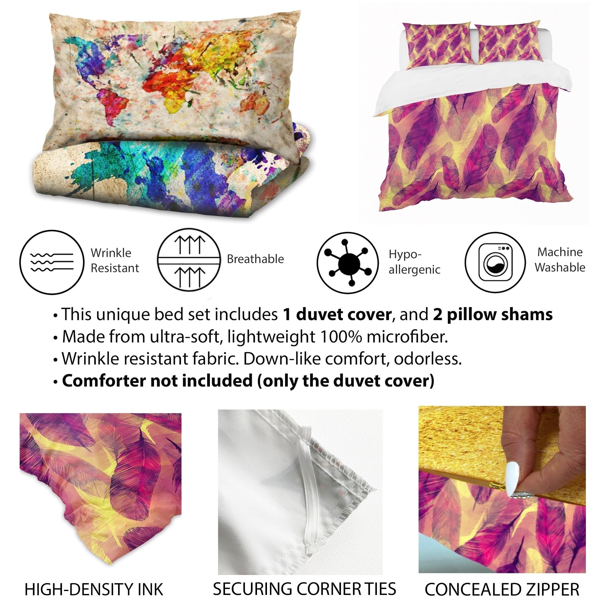 Designart Multicolor Boho Flowers Bohemian Bedding Set Duvet Cover Shams Overstock 23507090