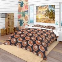 Designart 'Champignons Pattern' Modern & Contemporary Bedding Set - Duvet Cover & Shams