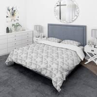 Designart 'Abstract Network' Scandinavian Bedding Set - Duvet Cover & Shams