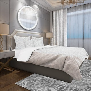 Designart - Abstract White Geometric Pattern - Scandinavian Duvet Cover Set