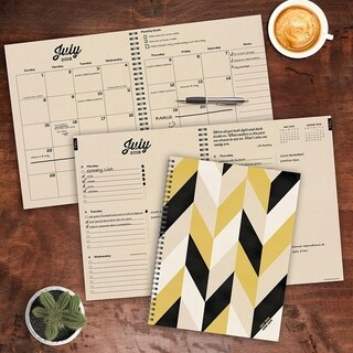 2019 Geometric Large Weekly Monthly Planner