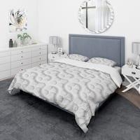 Designart 'Lattice' Scandinavian Bedding Set - Duvet Cover & Shams