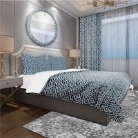 Designart 'Vintage Pattern' Scandinavian Bedding Set - Duvet Cover & Shams