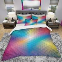 Designart 'Geometric Pattern' Modern & Contemporary Bedding Set - Duvet Cover & Shams