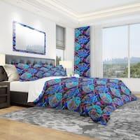 Designart 'Exotic Leaves Pattern' Tropical Bedding Set - Duvet Cover & Shams