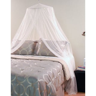 White Mosquito Net Canopy  sc 1 st  Overstock.com & Bed Canopies For Less | Overstock.com