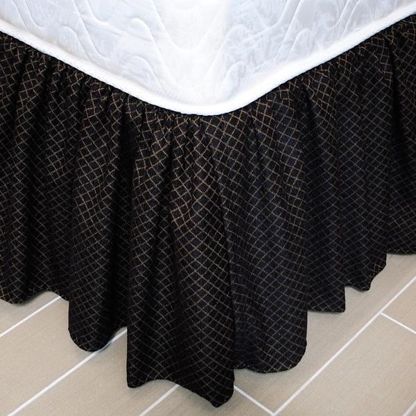 Austin Horn Classics Lismore Black Luxury Bed Skirt