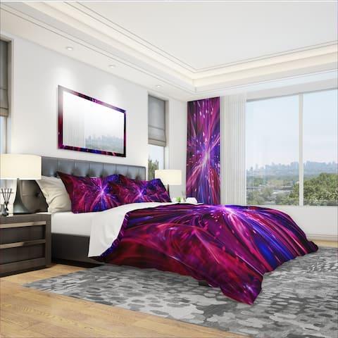 Designart 'Pink and Purple Dreams Come True' Modern & Contemporary Bedding Set - Duvet Cover & Shams