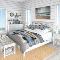Designart 'Beautiful Porthcothan Bay' Coastal Bedding Set - Duvet Cover & Shams