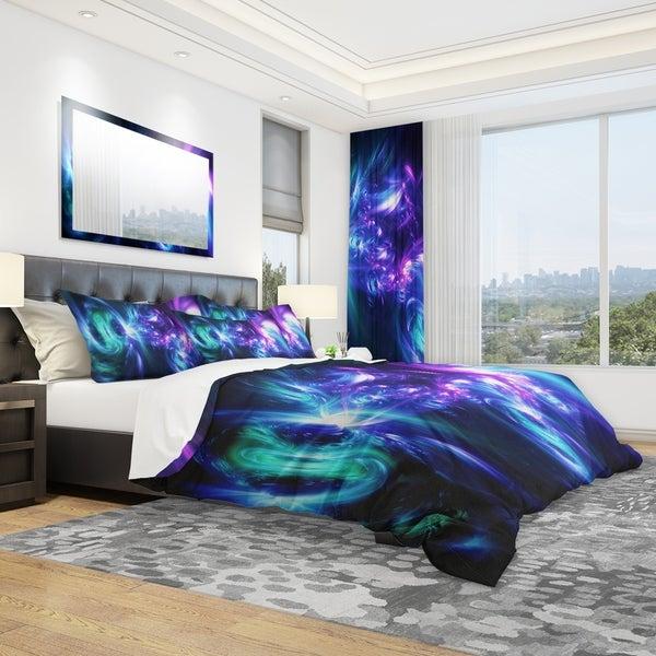 Designart 'Bursts of Light' Modern & Contemporary Bedding Set - Duvet Cover & Shams