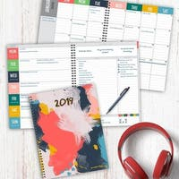 2019 Abstract Large Weekly Monthly Planner