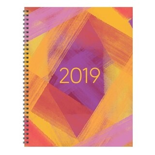 2019 Painted Colors Large Weekly Monthly Planner