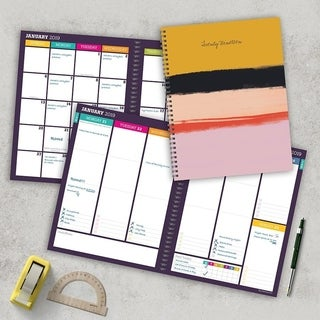 2019 Stripes Large Weekly Monthly Planner