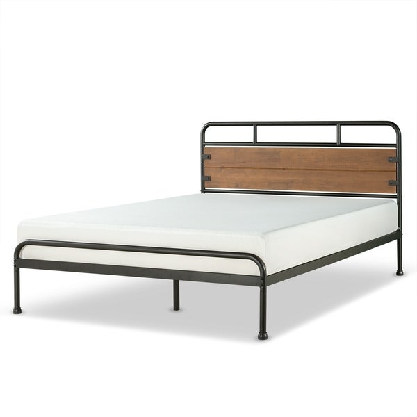 Priage by Zinus Santa Fe Wood and Metal 12 Inch Platform Bed Frame