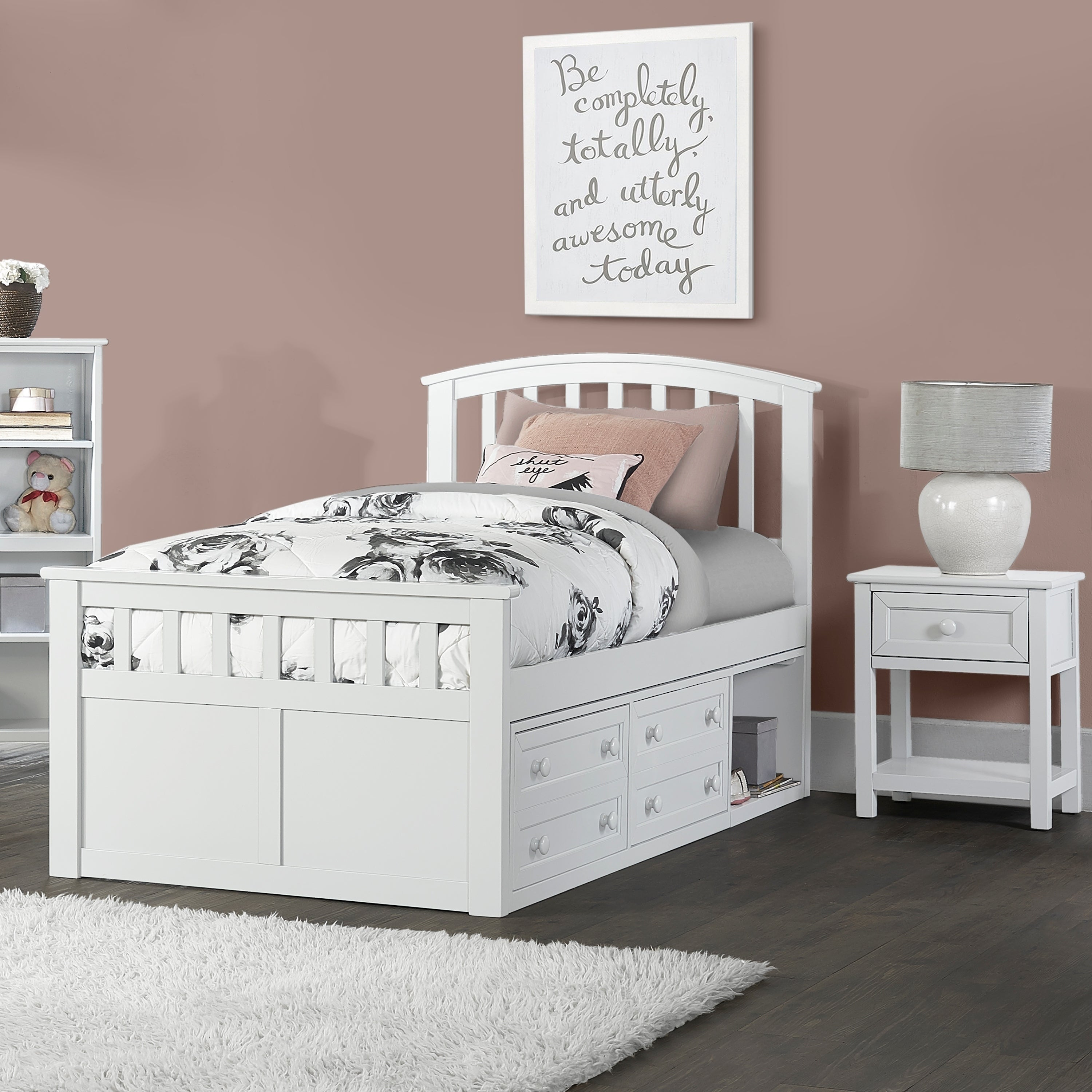 Picture of: Hillsdale Furniture Charlie Captains Storage Bed In White Twin Overstock 23507831