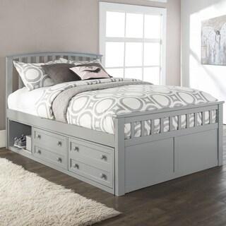 Hillsdale Furniture Charlie Captains Grey Wood Full-size Storage Bed