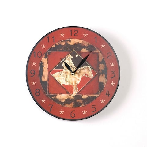 Late Night Express 12 Inch Round Clock
