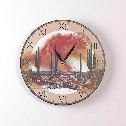 Desert Sundance 12 Inch Round Clock