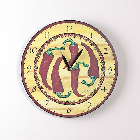 Five Red Hots 12 Inch Round Clock