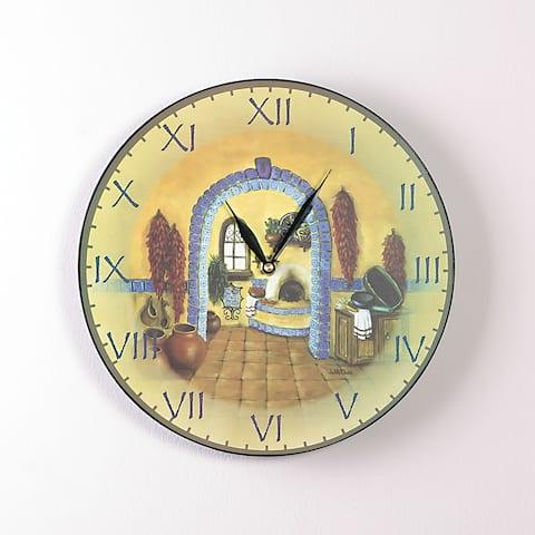 La Cocina 12 Inch Round Clock