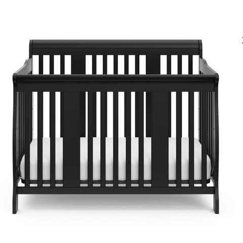 Storkcraft Tuscany 4-in-1 Convertible Crib - Converts to Toddler Bed, Daybed, and Full-Size Bed, 3 Adjustable Mattress Heights