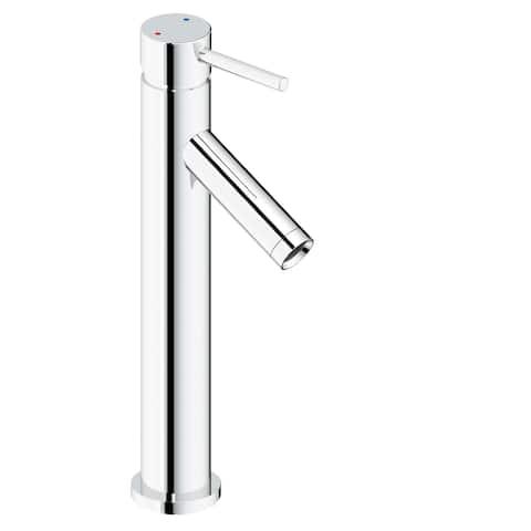 "Safavieh Solea Elation Stainless Steel Single Lever Bathroom Faucet - 2.1"" x 5.1"" x 12.1"""