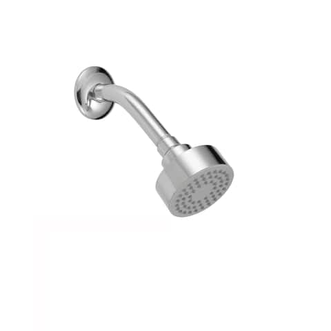 "Safavieh Solea Brighten Stainless Steel Single Setting Bathroom Shower Head - 7.2"" x 3.1"" x 2.4"""