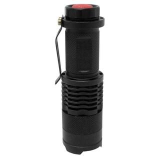 Dakota Aluminum Mini LED Emergency Flashlight w/ Multiple Light Modes - Black